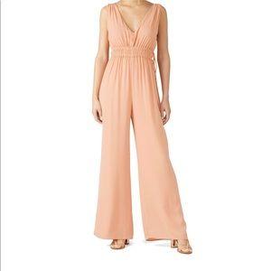 Peach/blush Krisa drawstring jumpsuit Size XS. NWT